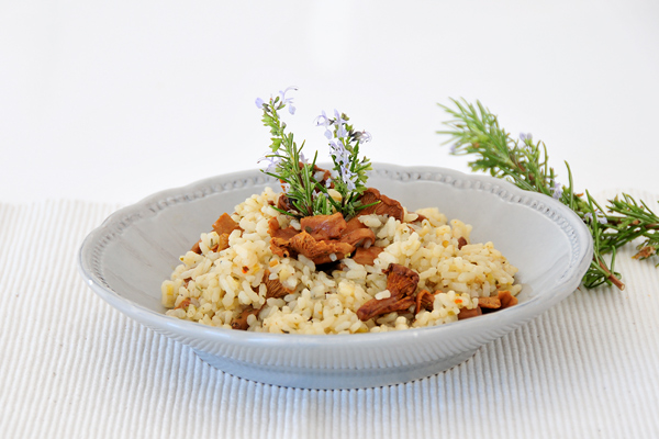 Eierschwammerl (Pfifferling) Risotto vegan und fructosearm