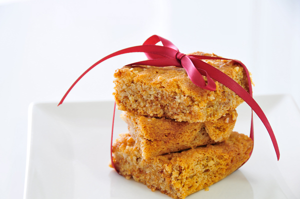 Blondies glutenfrei, vegan (milchfrei, eifrei) & fructosearm